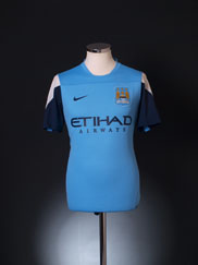 2013-14 Manchester City Player Issue Training Shirt M