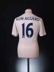 2013-14 Manchester City Third Shirt Kun Aguero #16 S