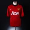 2013-14 Manchester United Home Shirt Jones #4 *Mint* M