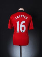 2013-14 Manchester United Home Shirt Carrick #16 L