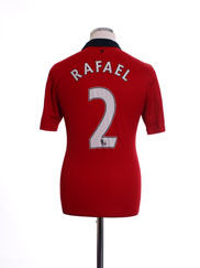 2013-14 Manchester United Home Shirt Rafael #2 S