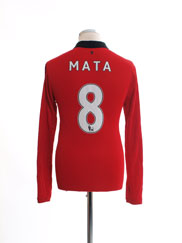 2013-14 Manchester United Home Shirt Mata #8 L/S S