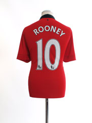 2013-14 Manchester United Home Shirt Rooney #10 L