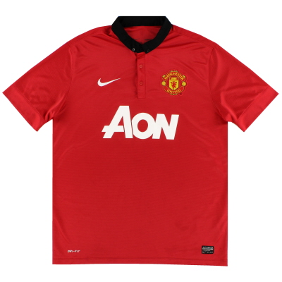 2013-14 Manchester United Home Shirt S.Boys