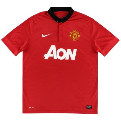 2013-14 Manchester United Nike Home Shirt L