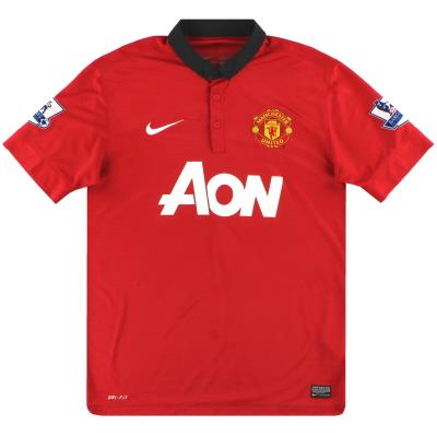 2013-14 Manchester United Nike Home Shirt M