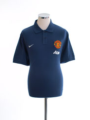 2013-14 Manchester United Nike Polo Shirt *As New* L