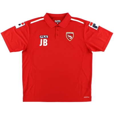 2013-14 Morecambe Player Issue Polo Shirt 'JB' XXXL