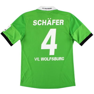 2013-14 Wolfsburg adidas Away Shirt Schafer #4 *Mint* M