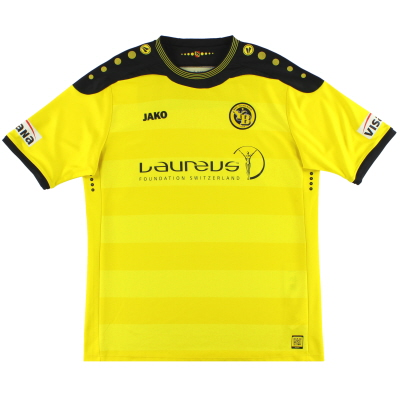 2013-14 Young Boys Jako Signed Home Shirt XXL