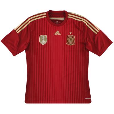 2013-15 Spain adidas Home Shirt *Mint* M