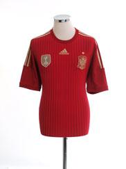 2013-15 Spain Home Shirt *Mint* M