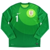 2013 England Goalkeeper Shirt Hart #1 *Mint* M