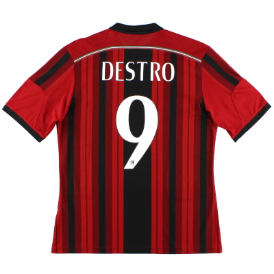 2014-15 AC Milan Home Shirt Destro #9 L