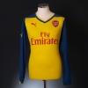 2014-15 Arsenal Away Shirt Rosicky #7 L/S S