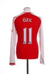 2014-15 Arsenal Home Shirt Ozil #11 L/S M