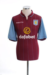 2014-15 Aston Villa Home Shirt L