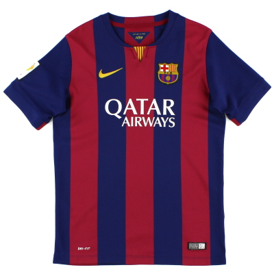 2014-15 Barcelona Home Shirt L.Boys
