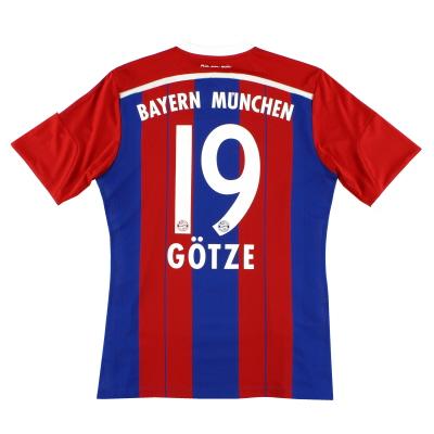 2014-15 Bayern Munich adidas Home Shirt Gotze #19 L