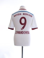2014-15 Bayern Munich Away Shirt Lewandowski #9 M