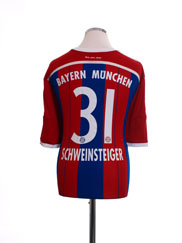 2014-15 Bayern Munich Home Shirt Schweinsteiger #31 *Mint* M