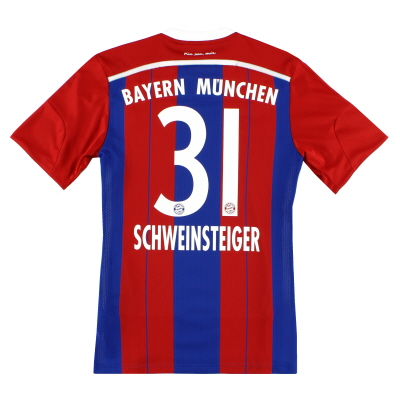 2014-15 Bayern Munich Home Shirt Schweinsteiger #31 S