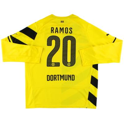 2014-15 Borussia Dortmund Home Shirt Ramos #20 L/S *Mint* XL