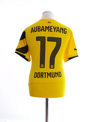 2014-15 Borussia Dortmund Home Shirt Aubameyang #17 L