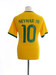 2014-15 Brazil Home Shirt Neymar Jr #10 S