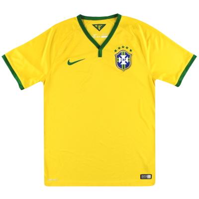 2014-15 Brazil Nike Home Shirt S