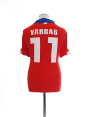 2014-15 Chile Home Shirt Vargas #11 L