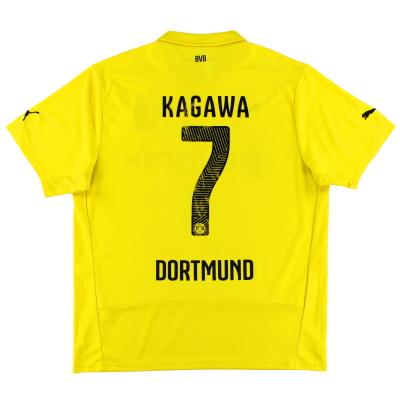 2014-15 Dortmund Champions League Shirt Kagawa #7 XL
