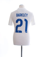 2014-15 England Player Issue 'Authentic' Home Shirt Barkley #21 S