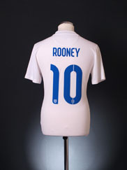 2014-15 England World Cup Home Shirt Rooney #10 S