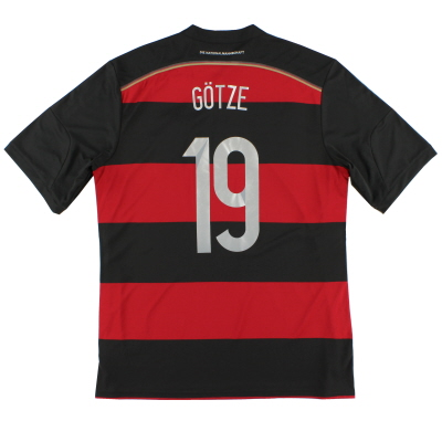 2014-15 Germany Away Shirt Gotze #19 *Mint* XL