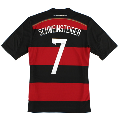 2014-15 Germany Away Shirt Schweinsteiger #7 *Mint* S