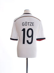2014-15 Germany Home Shirt Gotze #19 L