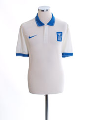 2014-15 Greece Player Issue Authentic Away Shirt L
