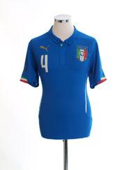 2014-15 Italy Home Shirt #4 *BNWT* M