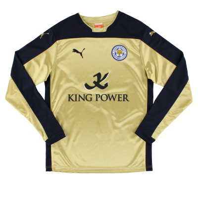 2014-15 Leicester Away Shirt L/S M