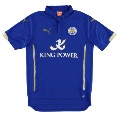 2014-15 Leicester Home Shirt M