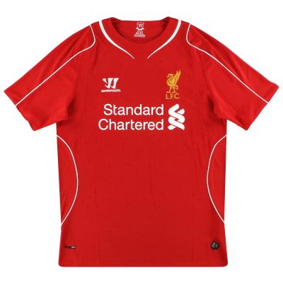 2014-15 Liverpool Warrior Home Shirt  S