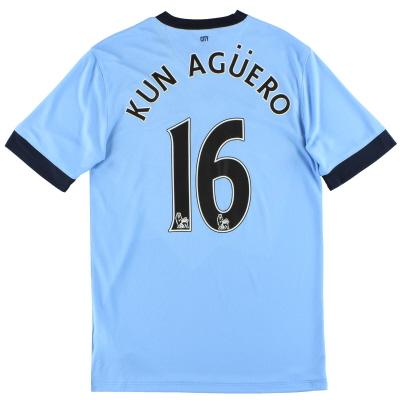 2014-15 Manchester City Nike Home Shirt Kun Aguero #16 M