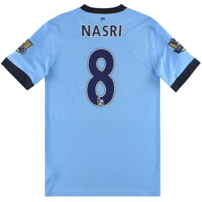 2014-15 Manchester City Nike Home Shirt Nasri #8 S