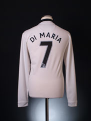 2014-15 Manchester United Away Shirt Di Maria #7 L/S *Mint* M