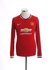 2014-15 Manchester United Home Shirt L/S XL.Boys