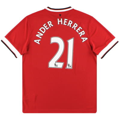 2014-15 Manchester United Nike Home Shirt Ander Herrera #21 *w/tags* L