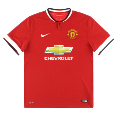 2014-15 Manchester United Nike Home Shirt L