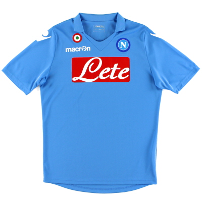 2014-15 Napoli Basic Home Shirt *Mint* S