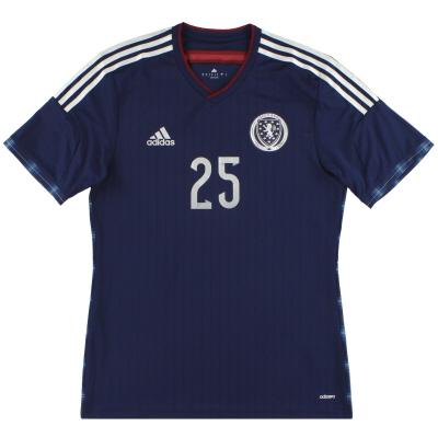 2014-15 Scotland adidas adizero Player Issue Home Shirt #25 *As New* M